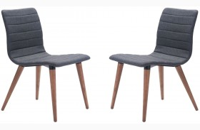 Jericho Gray Finish Dining Chair Set of 2