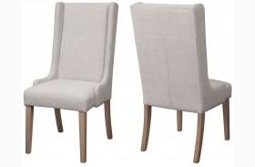 Solomon Natural Mango Finish Side Chair Set of 2