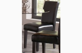 Clemente Black Finish Side Chair Set of 2