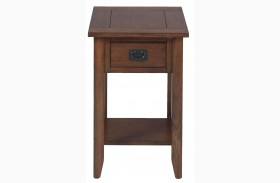 Mission Oak Finish Chairside Table