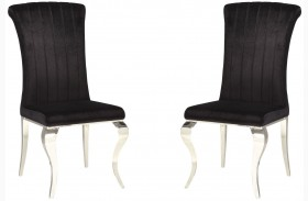 Carone Black Finish Side Chair Set of 4