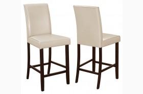 Fattori Cream Leatherette Counter Height Chair