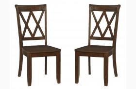Vintage Sienna Brown Side Chair set of 2
