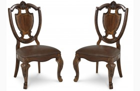 Old World Shield Back Dining Chair Set of 2