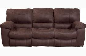 Terrance Chocolate Finish Reclining Sofa