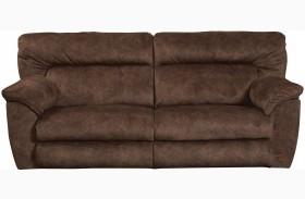 Nichols Chestnut Finish Reclining Sofa