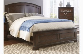 Avington Dark Cognac Panel Bed