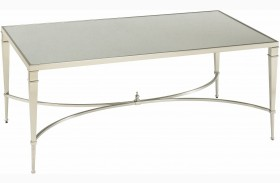 Mallory Satin Nickel Cocktail Table