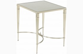 Mallory Satin Nickel End Table