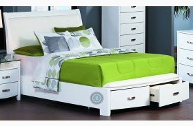Lyric White Sleigh Storage Bed