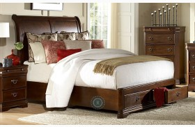 Karla Sleigh Storage Bed