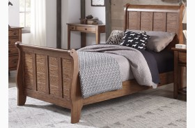 Grandpa's Cabin Aged Oak Youth Sleigh Bed