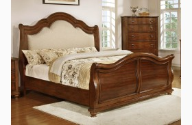 Davina Brown Cherry Sleigh Bed