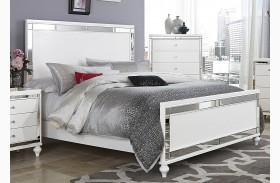 Alonza Bright White Panel Bed