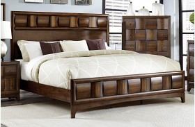Porter Warm Walnut Panel Bed