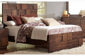 Gallagher Golden Brown Panel Bed