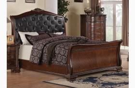 Maddison Sleigh Upholstered Bed