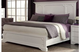 Furiani White Finish Queen Panel Bed
