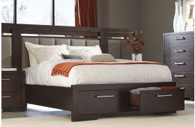 Berkshire Bitter Chocolate Storage Bed