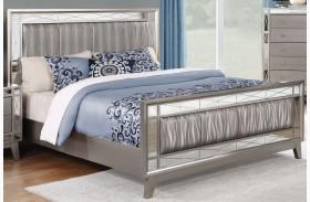 Leighton Metallic Mercury Panel Bed