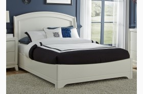 Avalon White Truffle Platform Bed