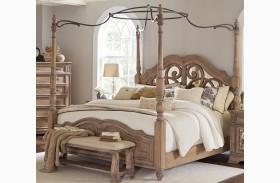 Ilana Antique Linen Poster Bed