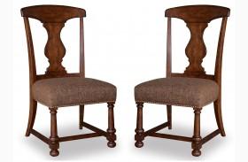Whiskey Barrel Oak Side Chair Set of 2