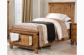 Brenner Rustic Honey Youth Panel Storage Bed