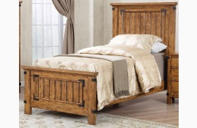 Brenner Rustic Honey Youth Panel Bed