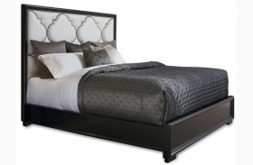 Cosmopolitan Ebony Upholstered Panel Bed