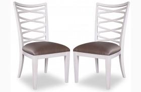 Cosmopolitan Parchment Side Chair Set of 2