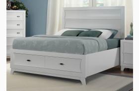 Zandra White Storage Bed
