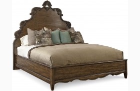 Continental Weathered Nutmeg Panel Bed