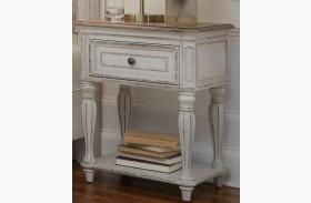Magnolia Manor Antique White Finish Leg Nightstand