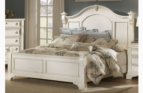 Heirloom White Poster Bed