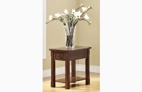 Corsica African Chestnut Chair Side Table