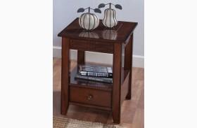 Burton Antique Honey Chair Side Table