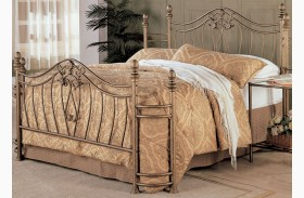 Sydney Antique Brushed Gold Finish Bed