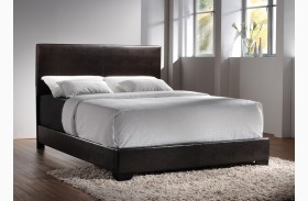 Conner Dark Brown Low Profile Bed