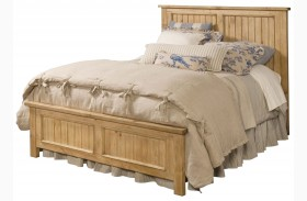 Homecoming Vintage Pine Panel Bed