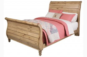 Homecoming Vintage Pine Sleigh Bed