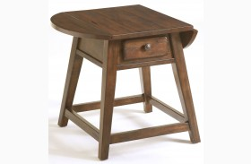 Attic Rustic Oak Stain Splay End Table