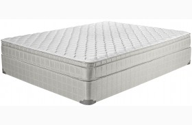 Laguna II Gray Finish Twin Innerspring Firm Mattress with Foundation