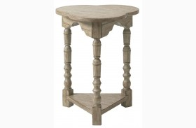 Twilight Bay Antique Linen Chairside Table
