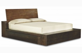 Kateri Platform Bed with Two Underbed Storage Drawers