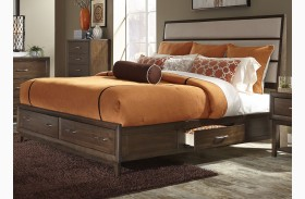 Hudson Square Espresso Two Sided Panel Storage Bed