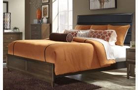 Hudson Square Espresso Upholstered Platform Bed