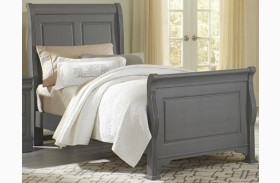 French Market Zinc Youth Sleigh Bed