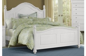 French Market Soft White Poster Bed