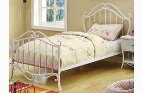Bella White Youth Bed